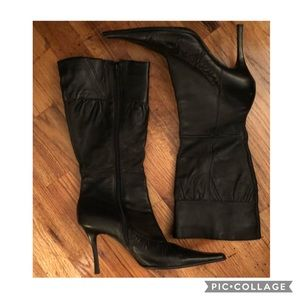 Leather🥀Diba Mid Calf/Knee High Pointy Toe Boots